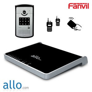 Fanvil i20T SIP door phone with RFID Card Support & Allo Nano2 PBX for 8 People Conference / 32 IP and 8 TDM simultaneous calls / 75 IP extensions, Up to 6 Analog extensions / Easy to use GUI / 8 Ports (2FXO-4FXS-2 FXO/FXS) / Fax and Voicemail to Email