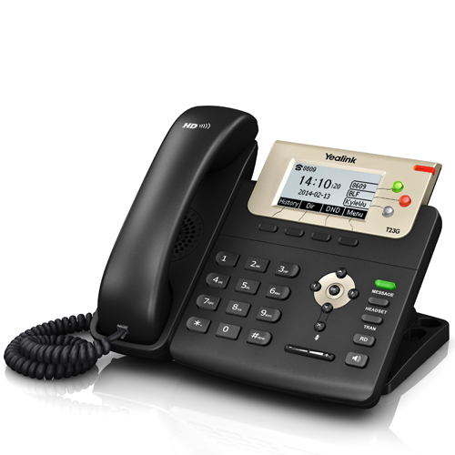 Yealink SIP-T23G Gigabit IP Phone (Dual-Port Ethernet, PoE)