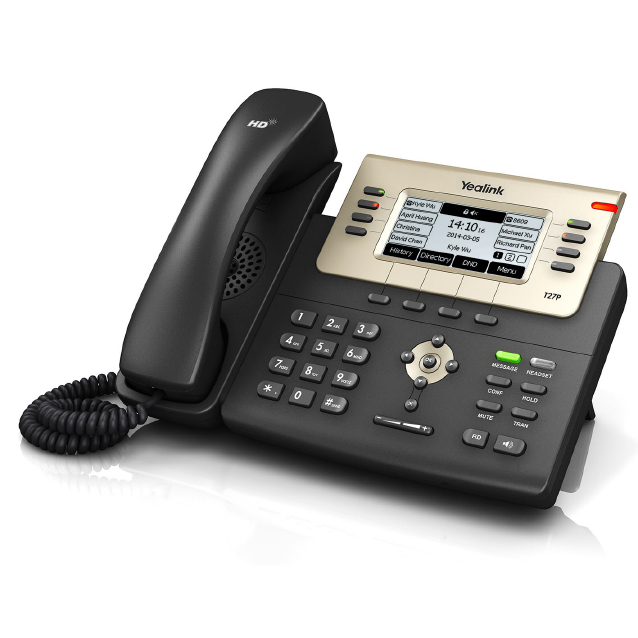 Yealink SIP-T27P SIP phone, OpenVPN, XML/LDAP remote phonebook, XML Browser, Action URL/URI, Optima HD Voice, Paperless