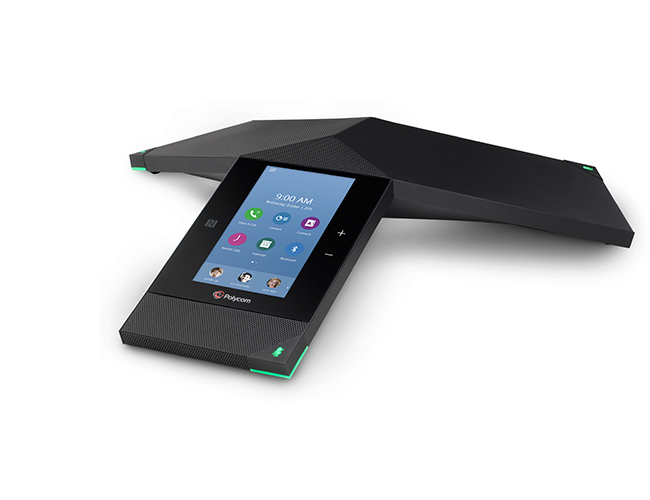 Polycom RealPresence Trio is the first smart hub for group collaboration that transforms the company's iconic three-point conference phone into a voice, content-sharing and video system for any environment.
